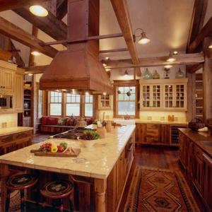 Руктик кухня в ранчо, някъде на Запад...