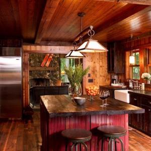 Рустик кухня Минеаполис