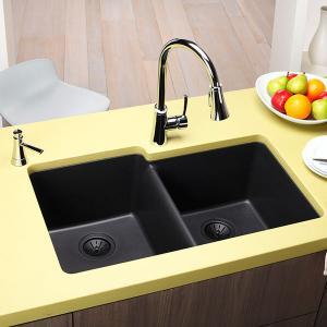 Асиметрична форма на мивката от гранит