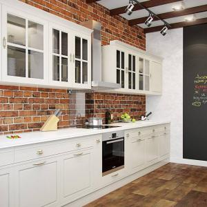 Бяла кухня в лофт стил