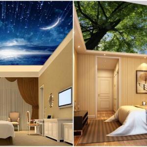 Опънатите тавани творят реалистични магии в спалнята