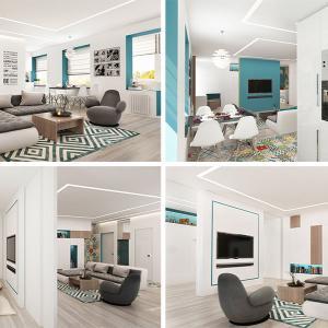 Модерен апартамент в едно общо помещение