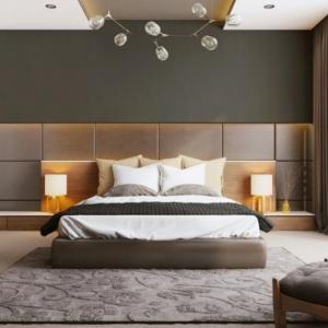 Декорацията в спалнята е специфична