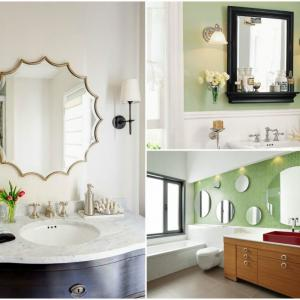 Създайте илюзия с огледала за баня