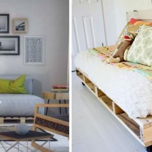 Изберете размера на своя диван от палети