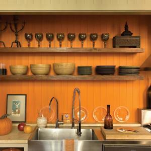 Оранжево есенно вдъхновение за обзавеждане за кухня