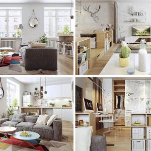 Натуралните елементи в скандинавския дом