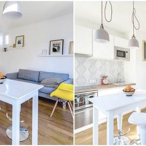 Как малък апартамент от 30 кв. м. в Париж е променен из основи?