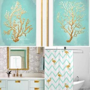 Златно в декора за блестящ ефект