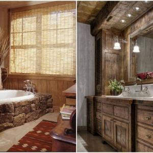Чудесни бани в рустик стил!