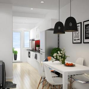 Добре дошли в тази елегантна кухня с минималистичен дизайн