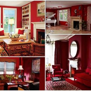Какво мислите за дневна, окъпана в червени багри?