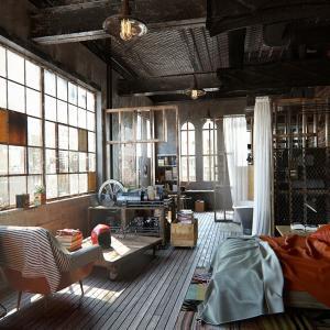 Внесете дръзкия индустриален стил в интериора на спалнята!