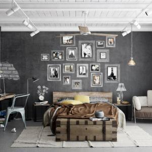 Ръководство за създаване на индустриален стил в интериора на спалнята