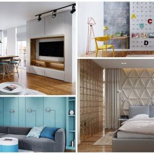 Страхотно жилище в 84 кв.м., срещнало съвременния стил и ефектните сини нюанси