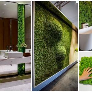 Зелен мъх дори в банята
