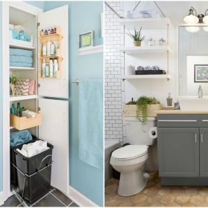 Създайте допълнително пространство за съхранение в банята