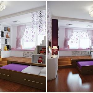 Скрийте леглото в специална ниша на пода