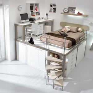 Легло върху шкафове