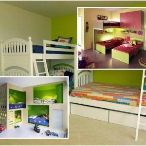 Когато стаята е малка, а децата две или повече, на помощ идват мултифункционалните мебели!