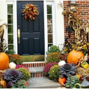 Есенна декорация на двора