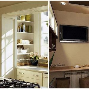 Изцяло вграден балкон в кухнята