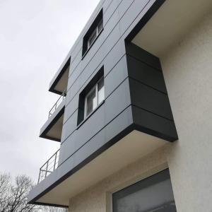 Облицовка с еталбонд - административна сграда на производствена база, гр. София