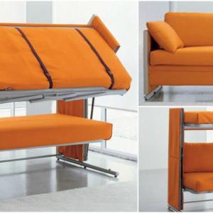 Двуетажни легла с диван