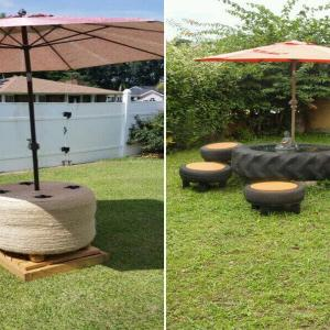 5. Основа за градински чадър
