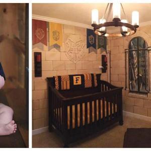 Вариант 1 за детска стая в стил Хари Потър