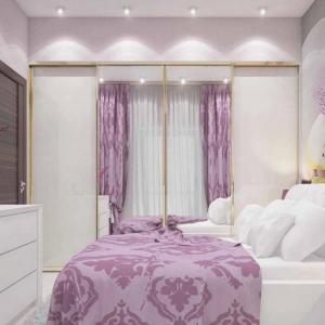 Спалня в люляково - луксозен интериор за релакс и комфортен сън