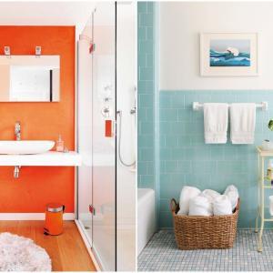 Едноцветна баня в ярки цветове