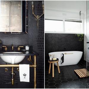 Едноцветна баня в черно