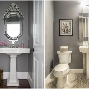 Сив дизайн за елегантна баня