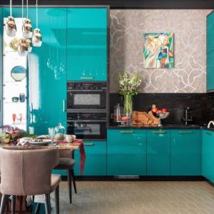 Кухня в тюркоаз - стил, елегантност и светлина