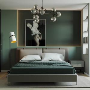Спалня в тъмнозелено
