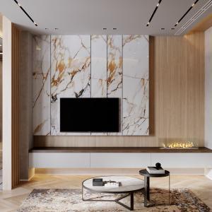 Луксозна зона зад телевизора